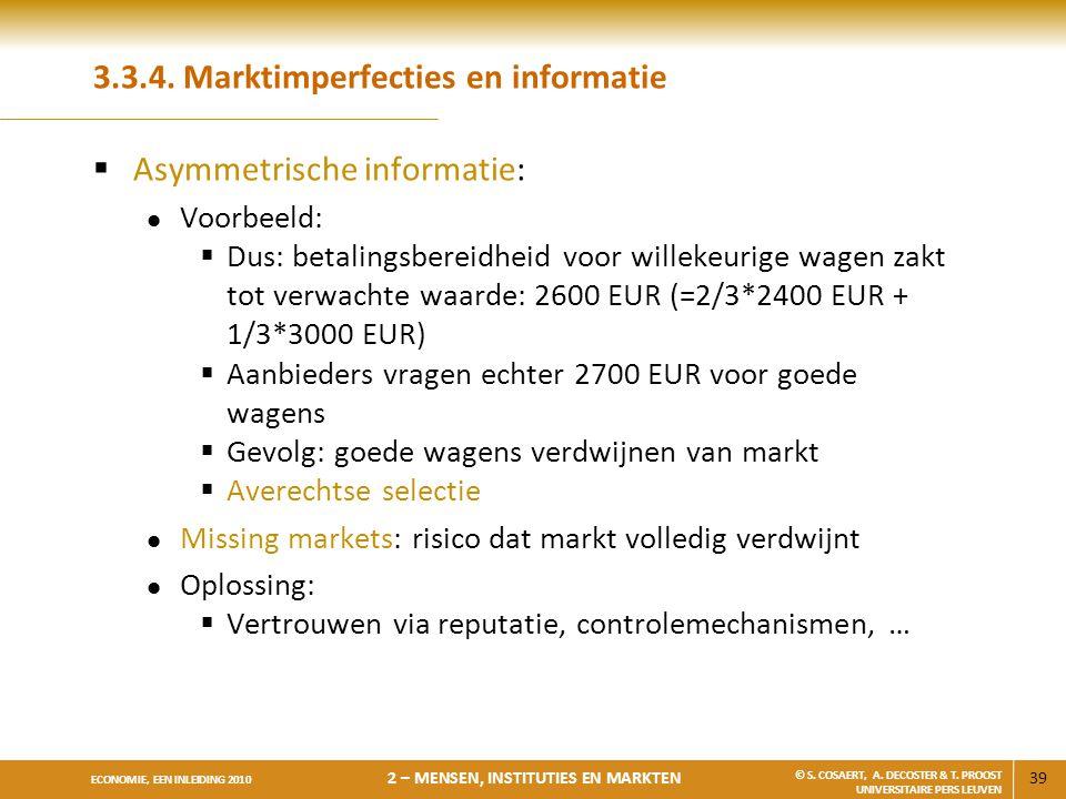 3.3.4. Marktimperfecties en informatie