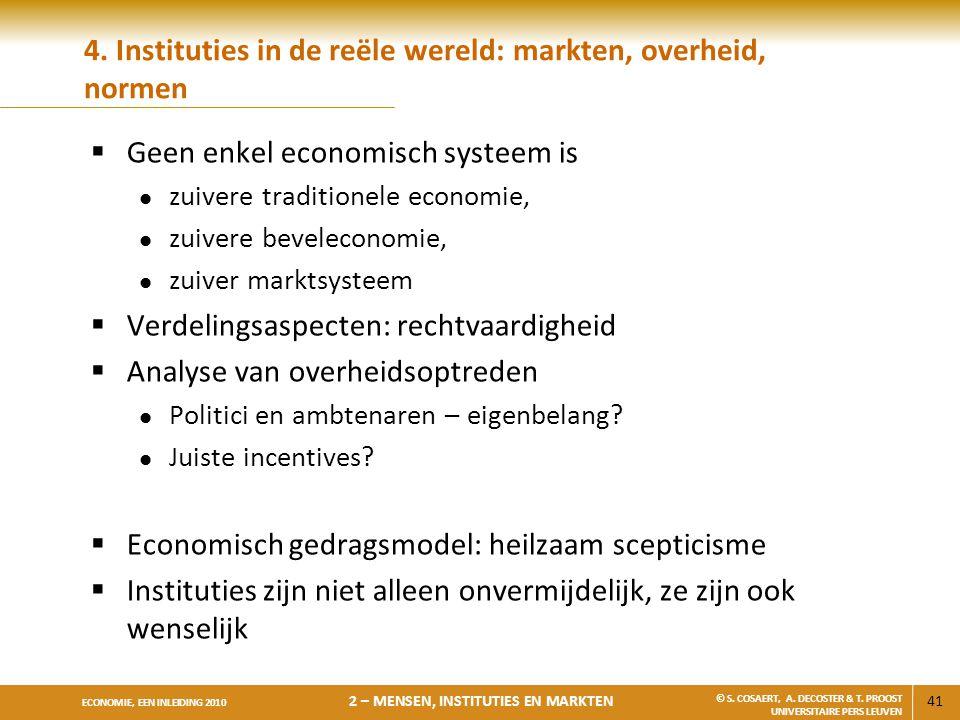 4. Instituties in de reële wereld: markten, overheid, normen