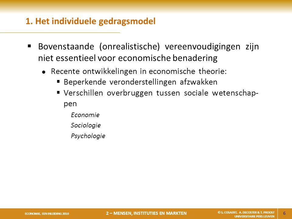 1. Het individuele gedragsmodel
