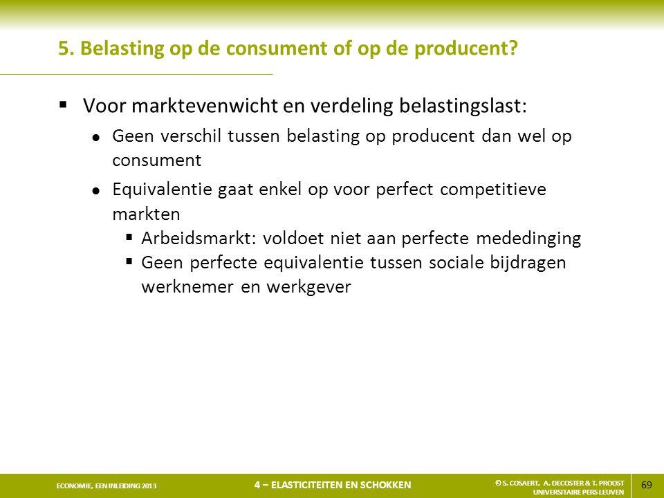 5. Belasting op de consument of op de producent