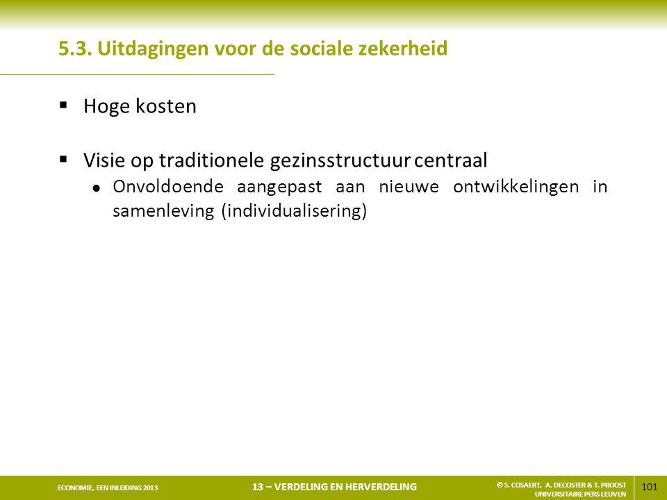 5.3. Uitdagingen voor de sociale zekerheid