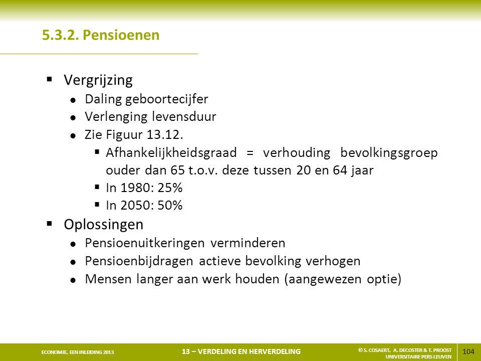 5.3.2. Pensioenen Vergrijzing Oplossingen Daling geboortecijfer