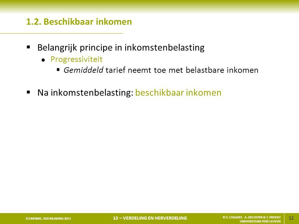 Belangrijk principe in inkomstenbelasting