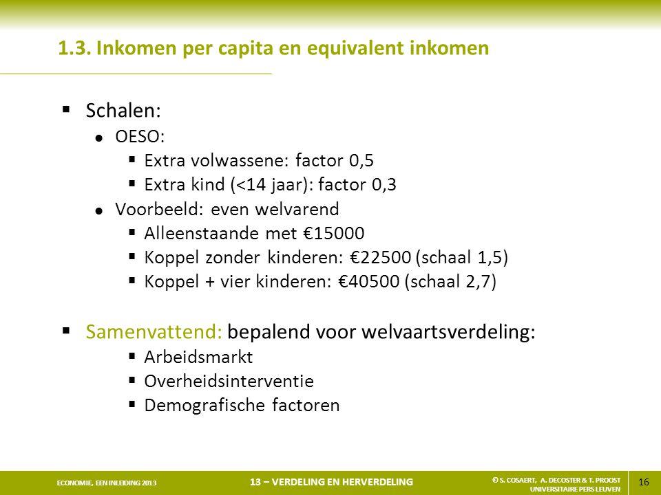 1.3. Inkomen per capita en equivalent inkomen