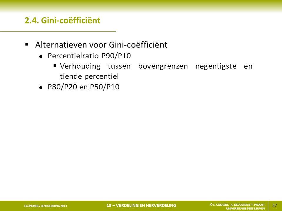 Alternatieven voor Gini-coëfficiënt