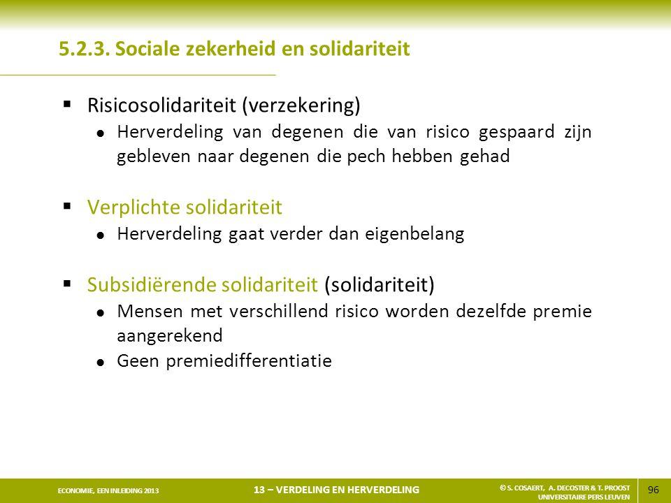 5.2.3. Sociale zekerheid en solidariteit
