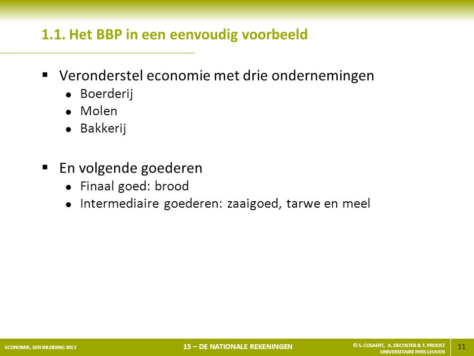 1.1. Het BBP in een eenvoudig voorbeeld