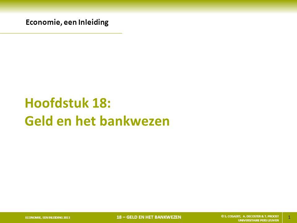 Hoofdstuk 18: Geld en het bankwezen