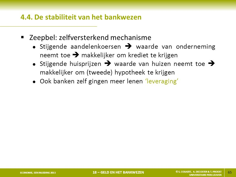 4.4. De stabiliteit van het bankwezen