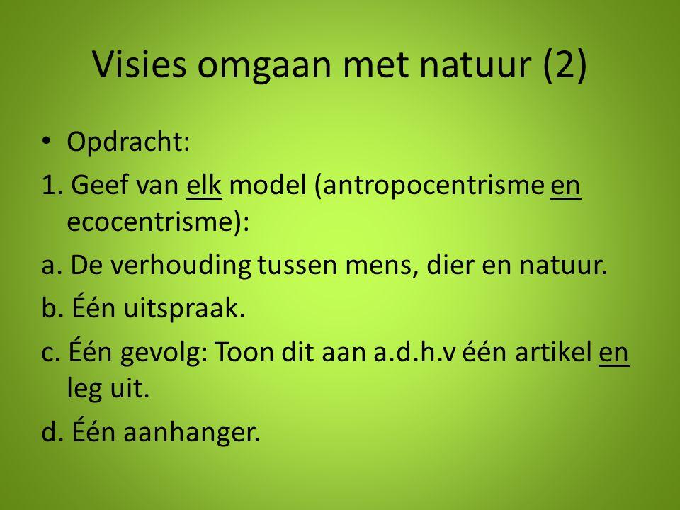 Visies omgaan met natuur (2)