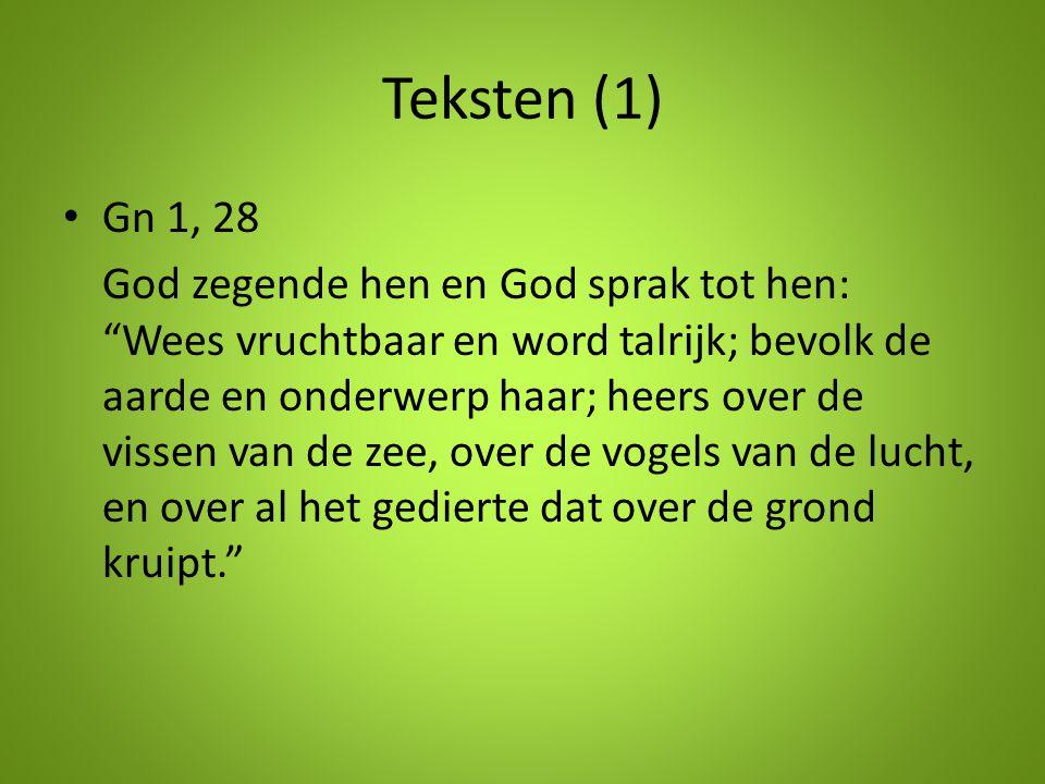 Teksten (1) Gn 1, 28.