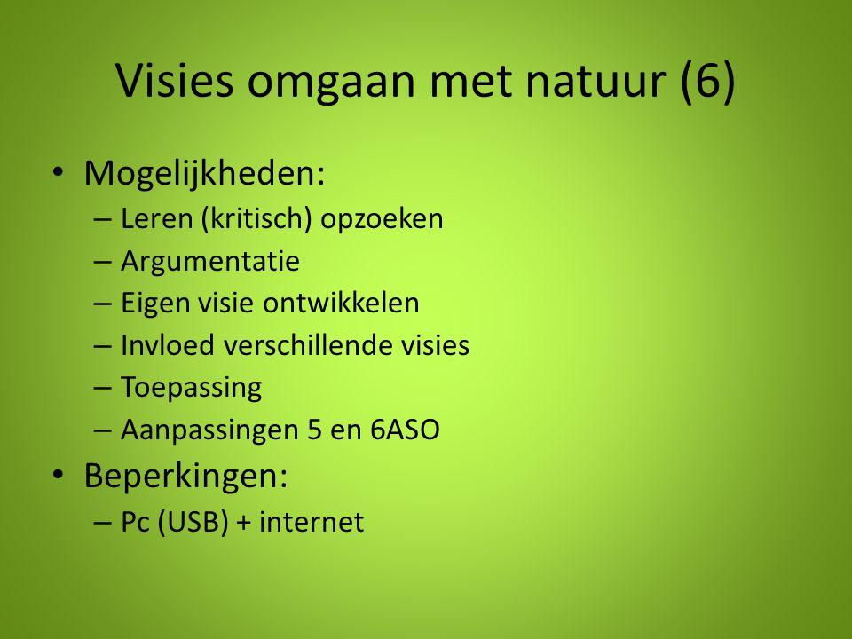 Visies omgaan met natuur (6)