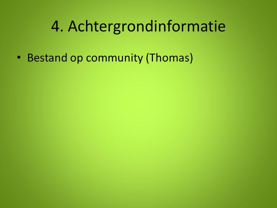 4. Achtergrondinformatie