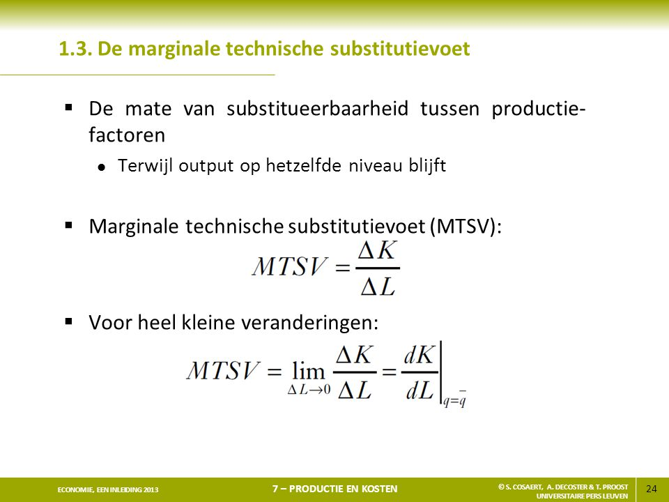 1.3. De marginale technische substitutievoet