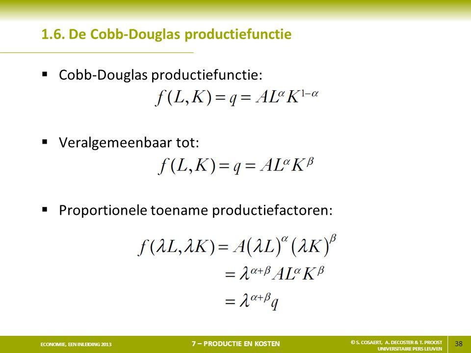 1.6. De Cobb-Douglas productiefunctie