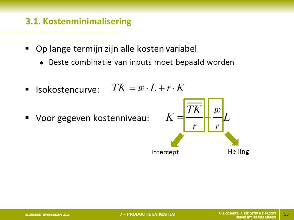 3.1. Kostenminimalisering
