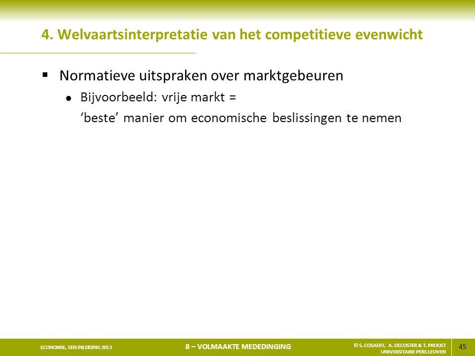 4. Welvaartsinterpretatie van het competitieve evenwicht