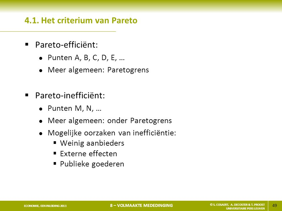 4.1. Het criterium van Pareto
