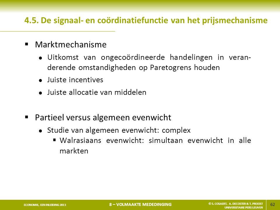 4.5. De signaal- en coördinatiefunctie van het prijsmechanisme
