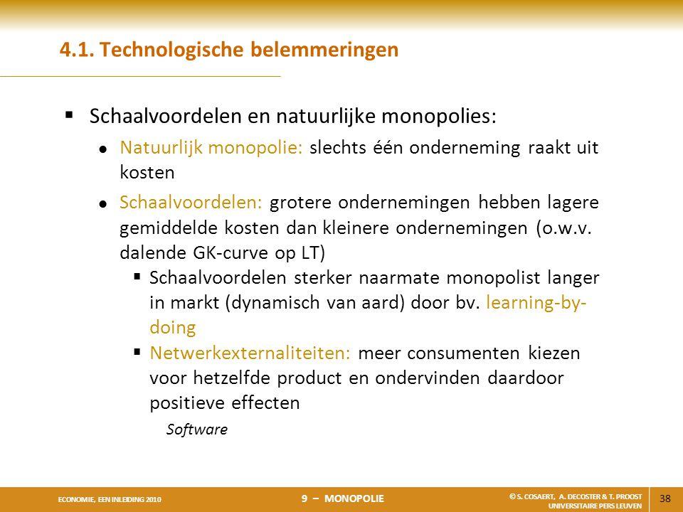 4.1. Technologische belemmeringen
