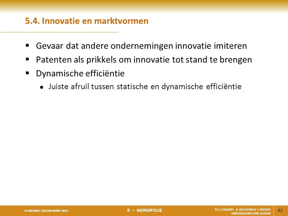 5.4. Innovatie en marktvormen