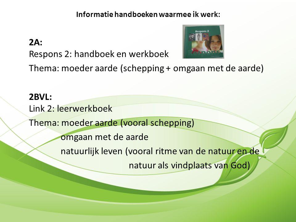 Informatie handboeken waarmee ik werk: