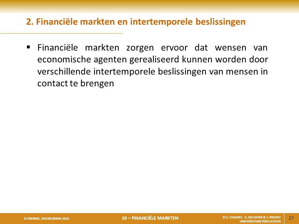 2. Financiële markten en intertemporele beslissingen
