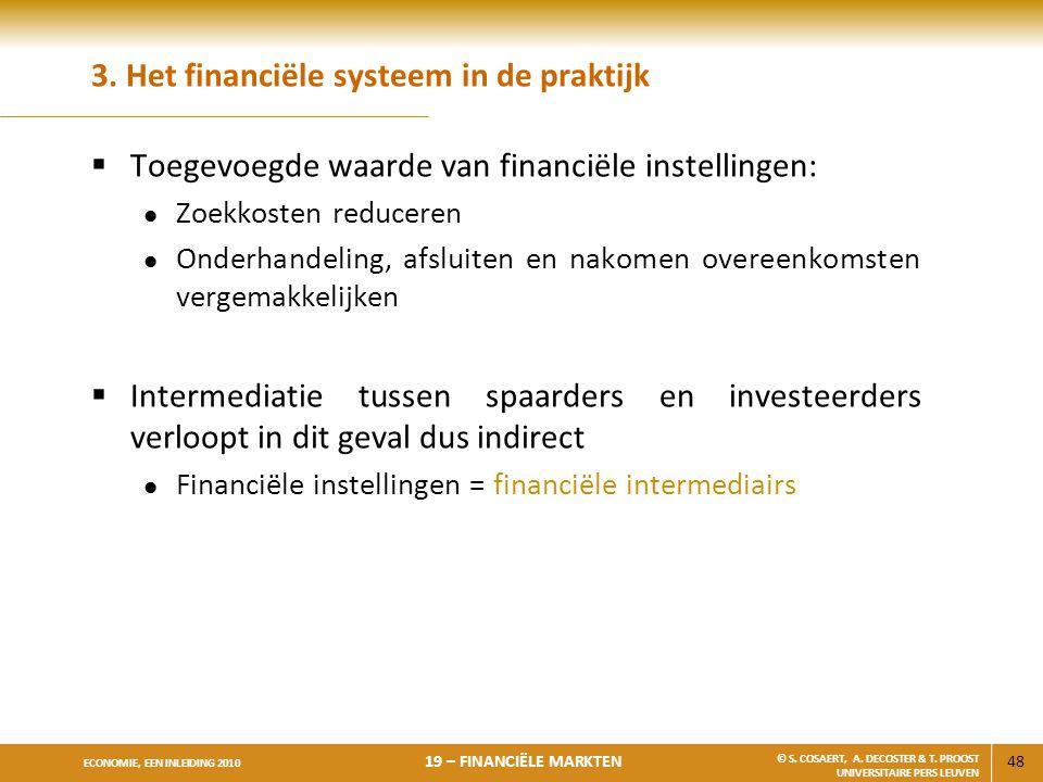 3. Het financiële systeem in de praktijk
