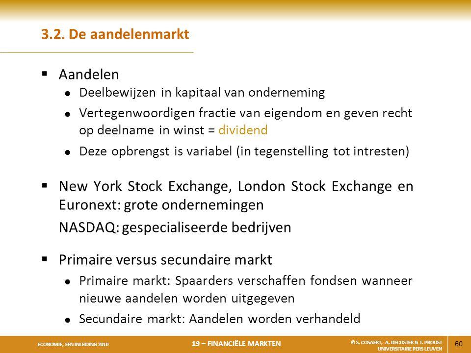 NASDAQ: gespecialiseerde bedrijven Primaire versus secundaire markt