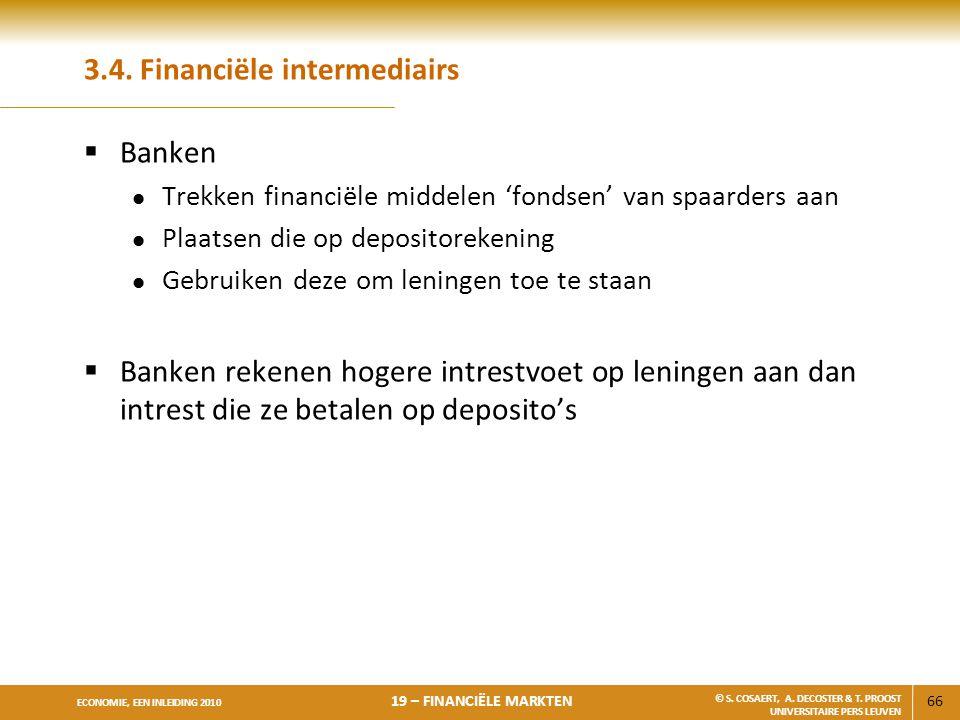3.4. Financiële intermediairs