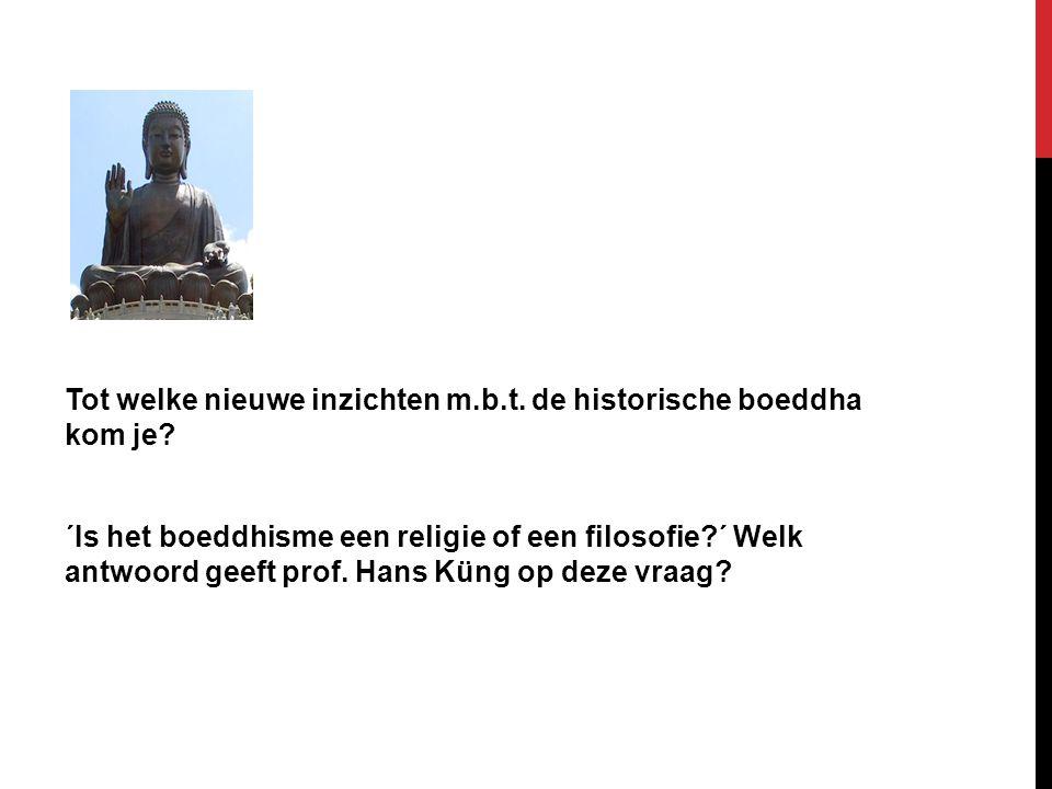 Tot welke nieuwe inzichten m. b. t. de historische boeddha kom je
