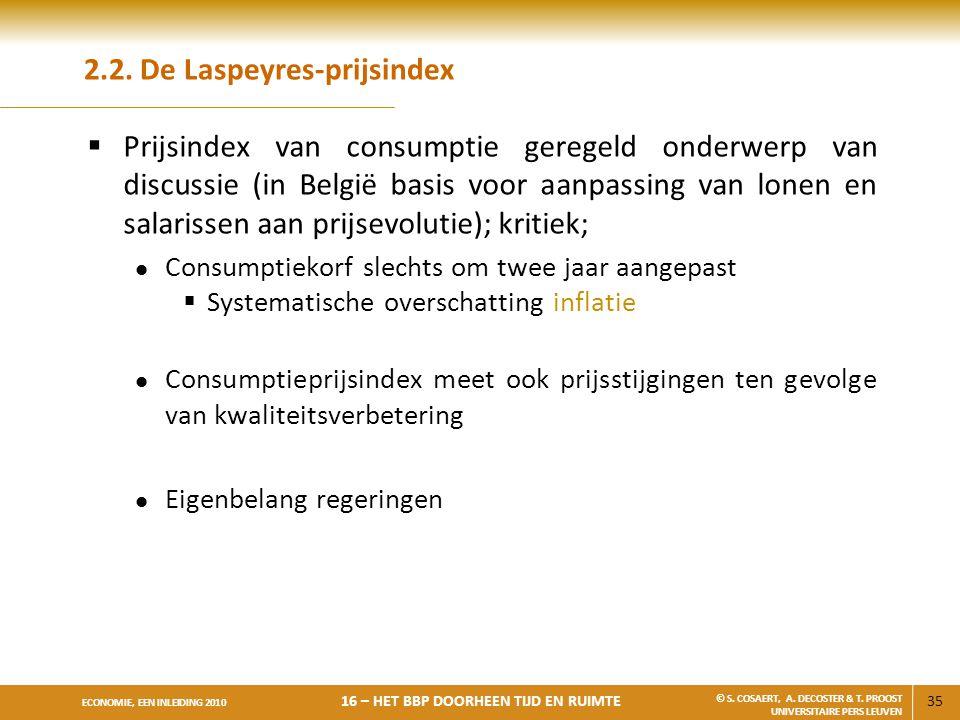 2.2. De Laspeyres-prijsindex