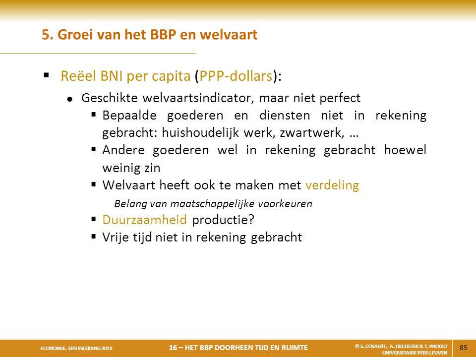 5. Groei van het BBP en welvaart