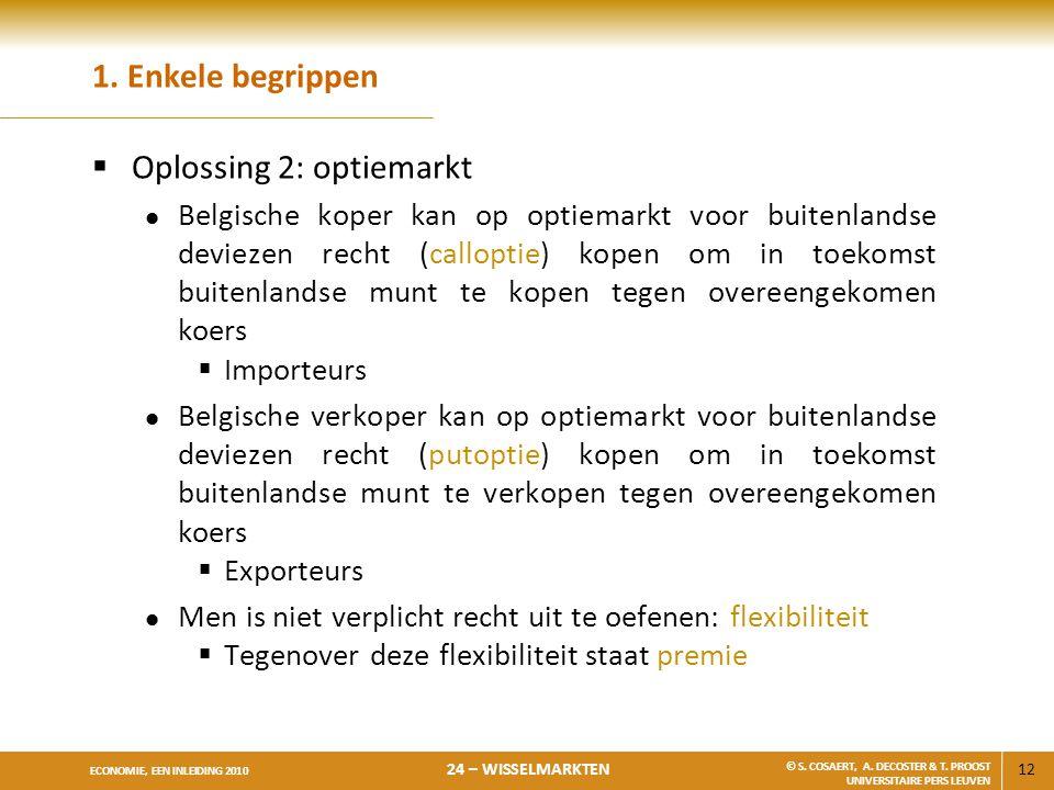 Oplossing 2: optiemarkt