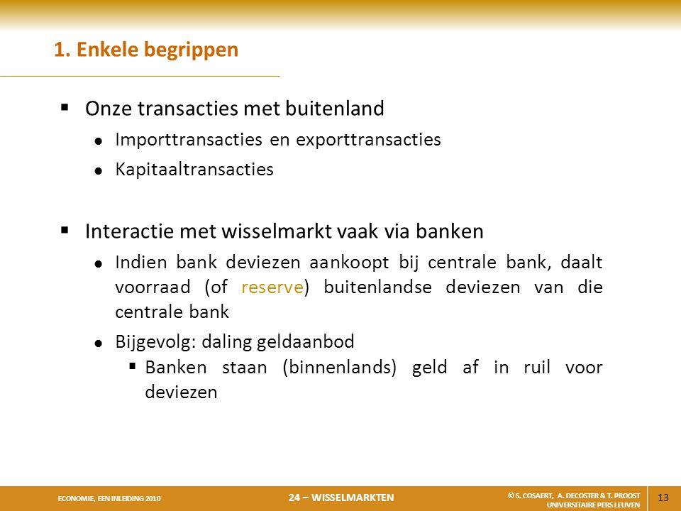 Onze transacties met buitenland