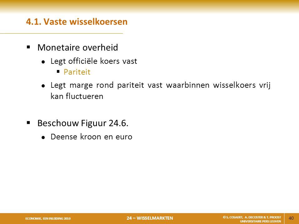 4.1. Vaste wisselkoersen Monetaire overheid Beschouw Figuur 24.6.