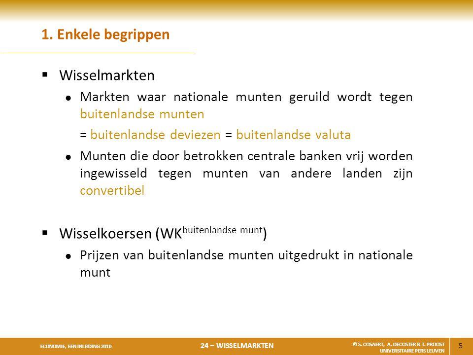 Wisselkoersen (WKbuitenlandse munt)