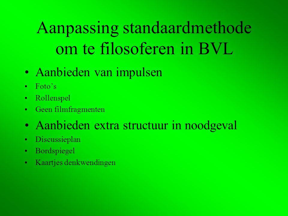 Aanpassing standaardmethode om te filosoferen in BVL
