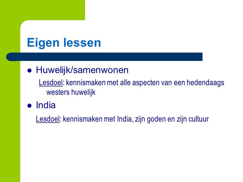 Eigen lessen Huwelijk/samenwonen India