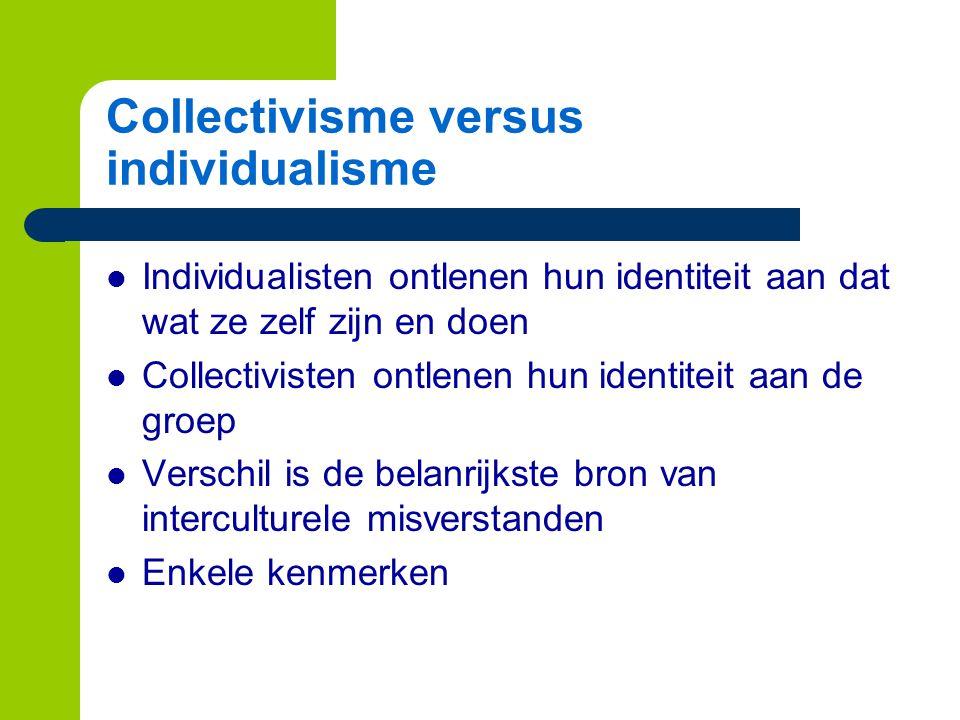 Collectivisme versus individualisme