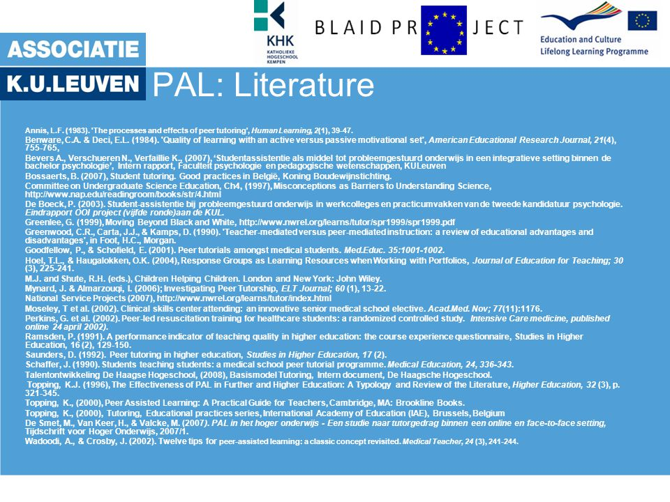 PAL: Literature 20th June 2006