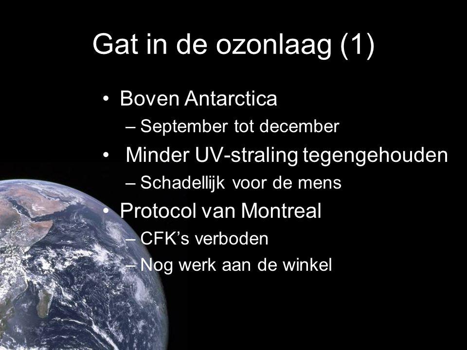 Gat in de ozonlaag (1) Boven Antarctica