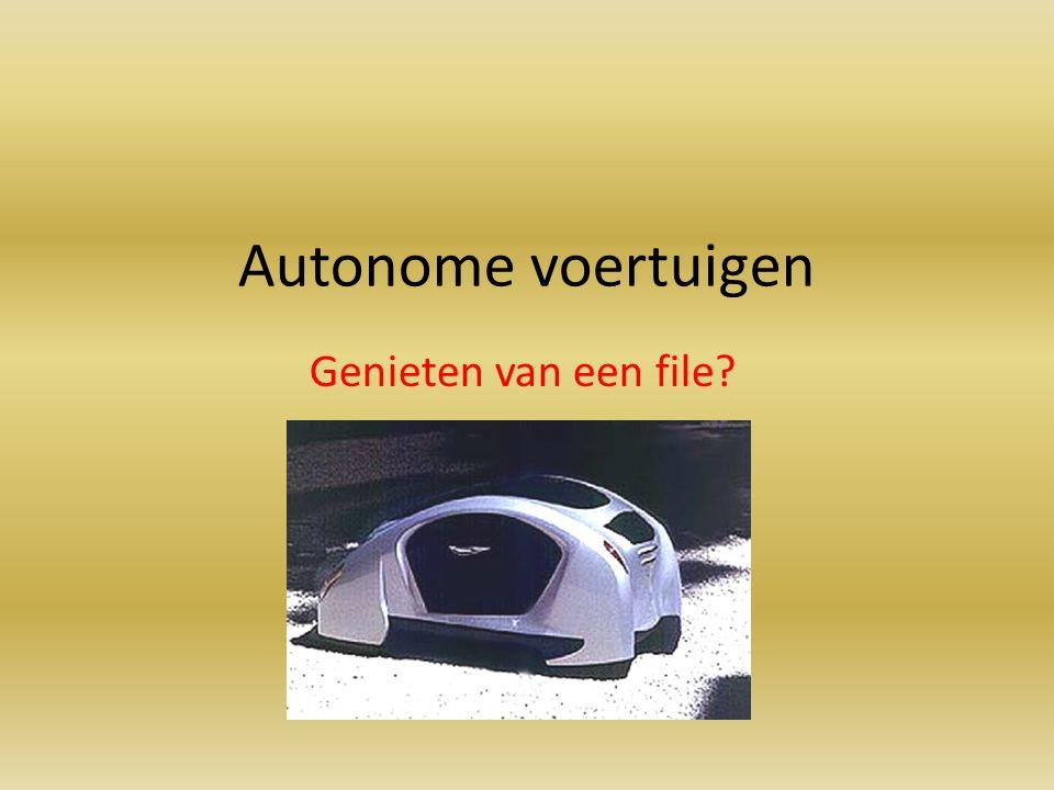 Autonome voertuigen Genieten van een file