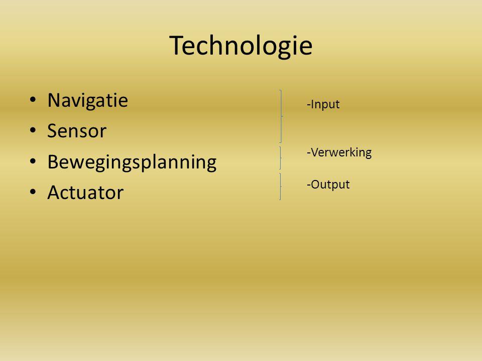 Technologie Navigatie Sensor Bewegingsplanning Actuator -Input