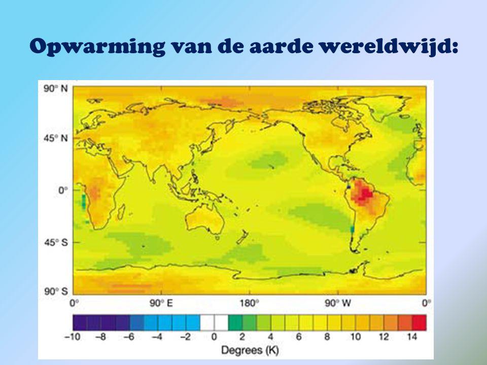 Opwarming van de aarde wereldwijd: