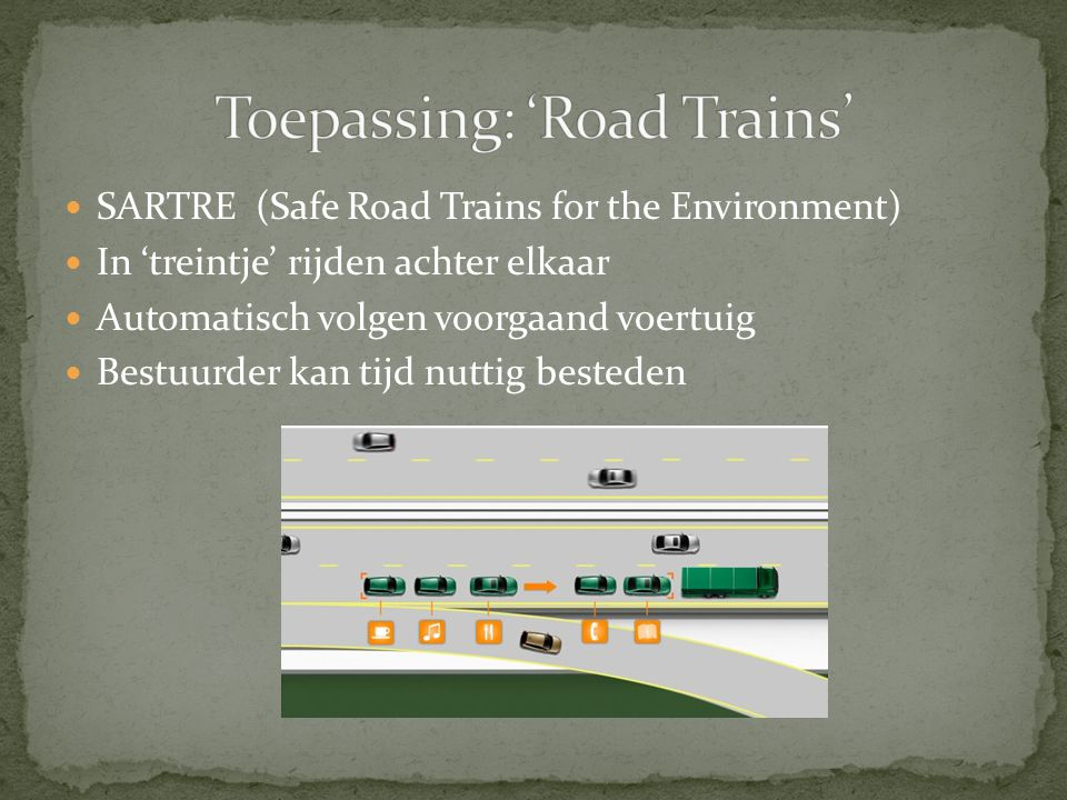 Toepassing: 'Road Trains'