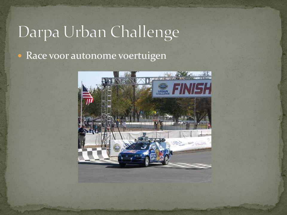 Darpa Urban Challenge Race voor autonome voertuigen