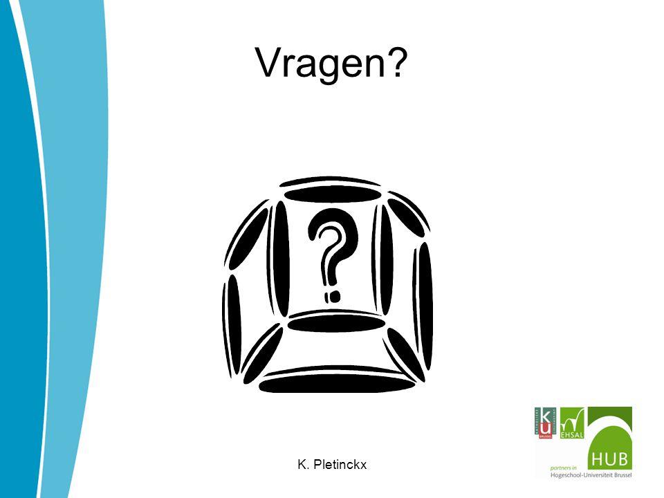 Vragen K. Pletinckx