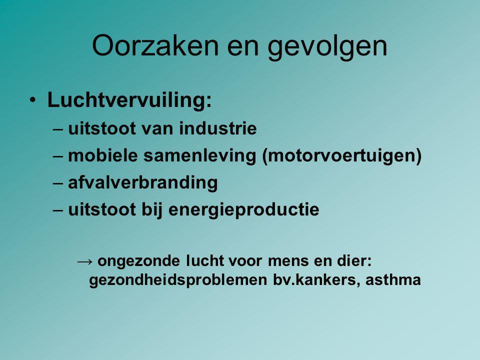 Oorzaken en gevolgen Luchtvervuiling: uitstoot van industrie