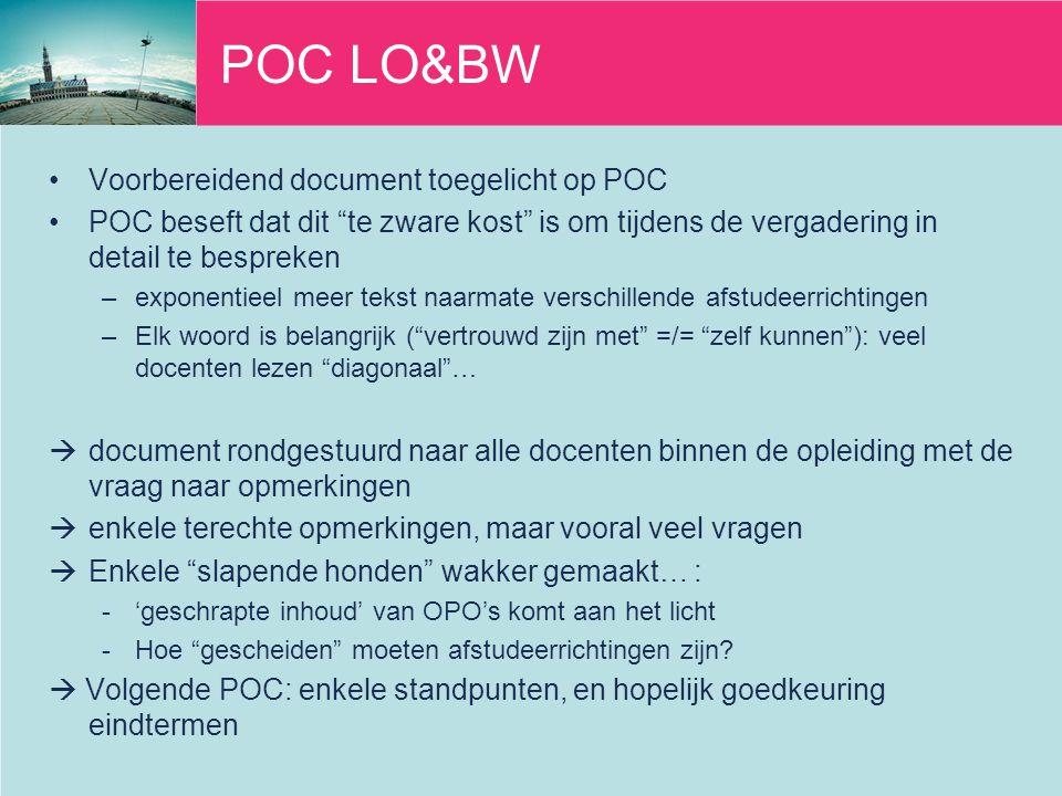 POC LO&BW Voorbereidend document toegelicht op POC
